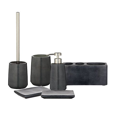 Superieur John Lewis Dark Grey Soapstone Bathroom Accessories