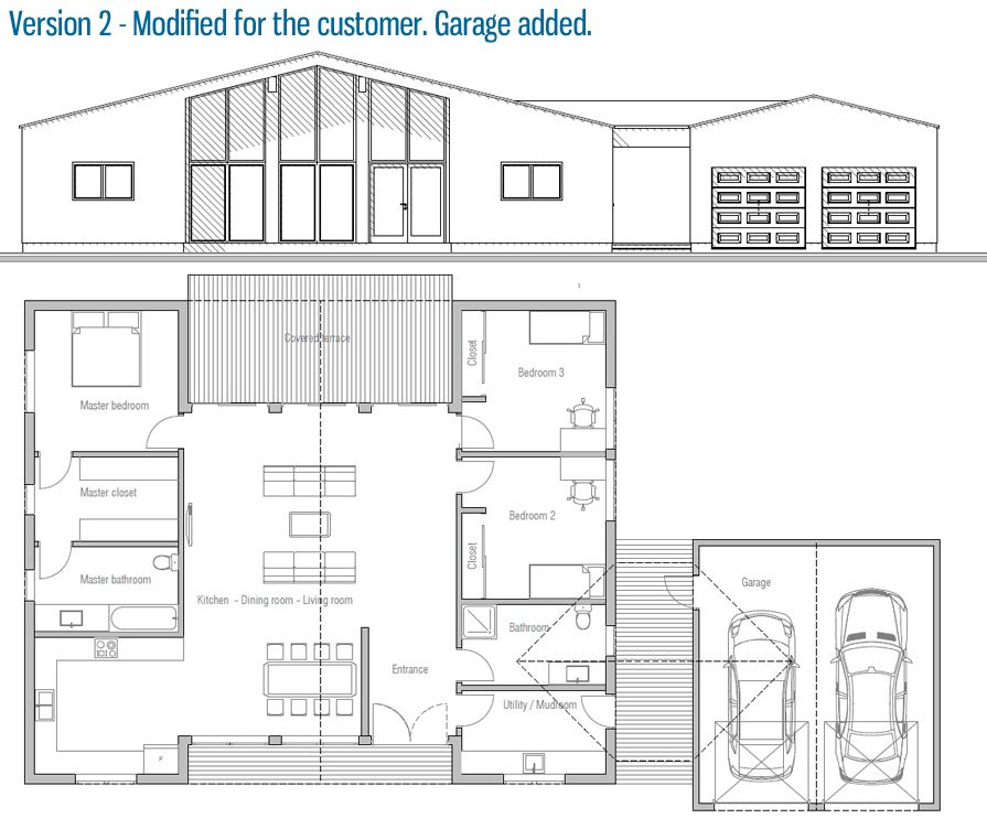 house design house-plan-ch325 22 | Houses I love | Pinterest | House ...