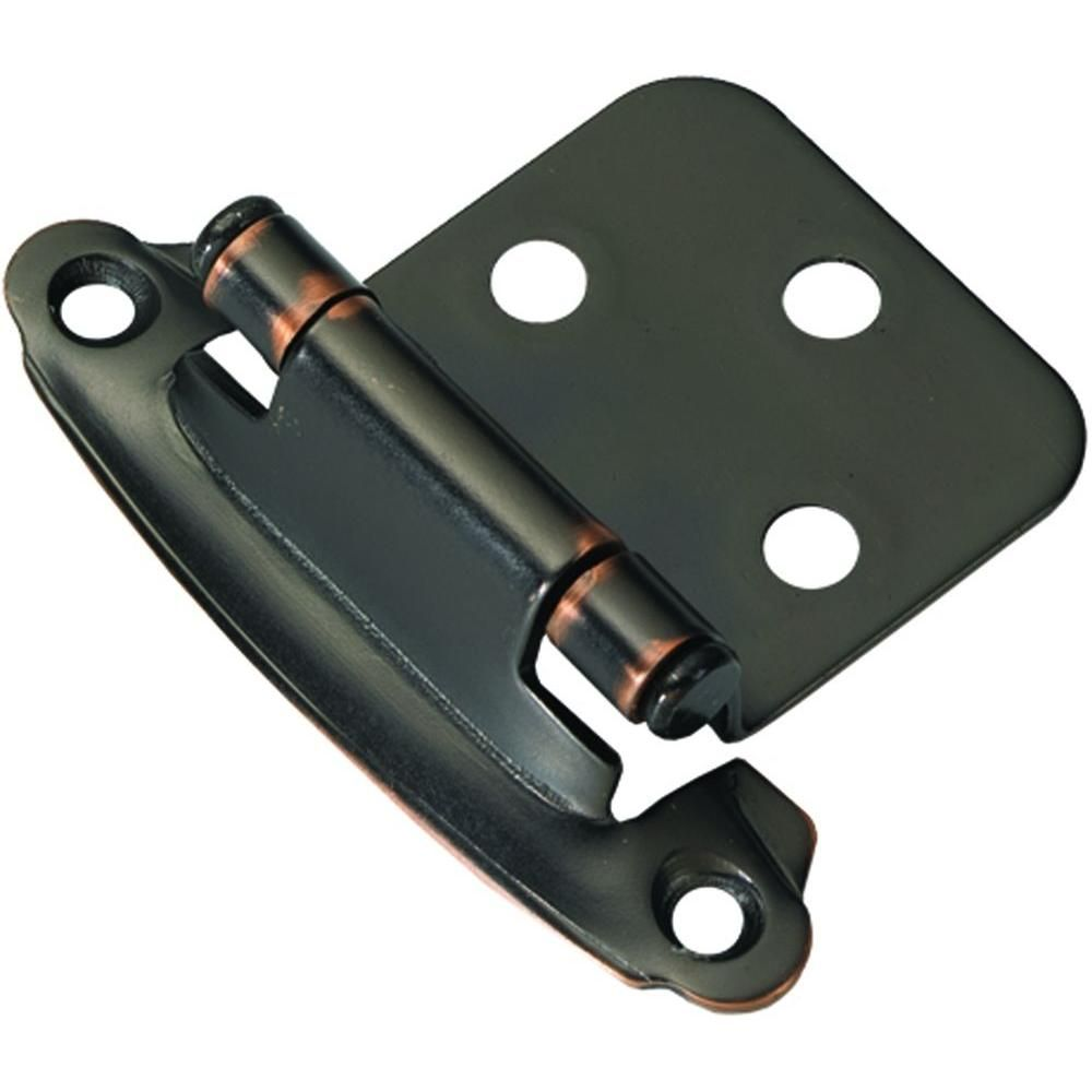 Hickory Hardware Oil Rubbed Bronze Surface Self Closing Flush Hinges 20 Pack Vp244 Obh The Home Depot Hickory Hardware Flush Hinges Decorative Hinges
