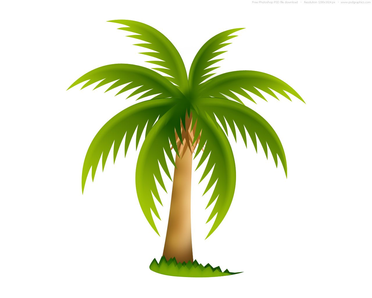 Tree Clipart | Palm Tree image - vector clip art online, royalty ...