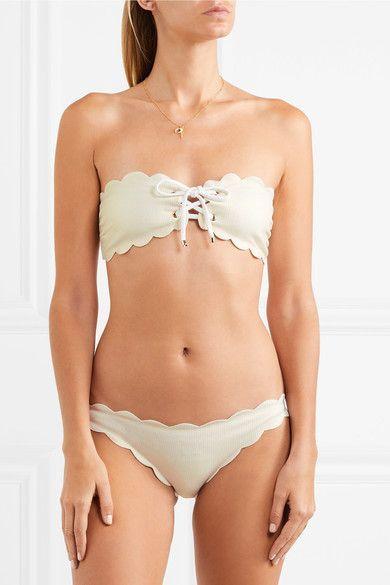 Marysia Swim Haut de bikini bandeau lacé Antibes Vente À Acheter Se Meilleur Endroit Pour Acheter En Ligne De Nouveaux Styles 9hYvTMpO