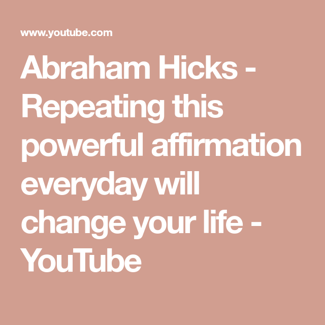 affirmationen youtube