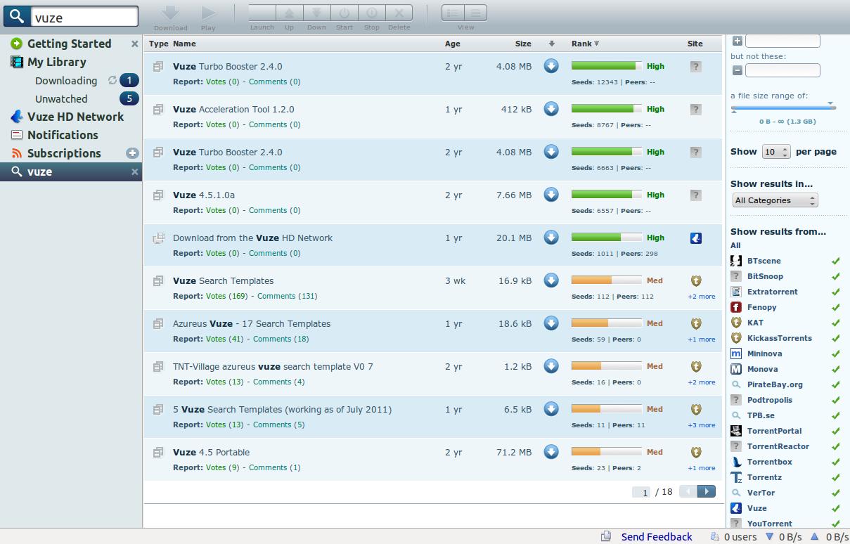 new torrentz vuze search template raibetan