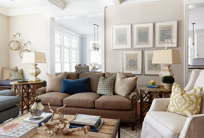 Light Beige Paint Color The Light Beige Paint Color Is Accessible Beige Sherwin Williams I Love Beige Living Rooms Brown Living Room Decor Brown Living Room