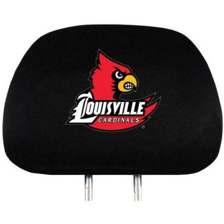 Ncaa Louisville Cardinals Head Rest Covers, Set of 2, Black