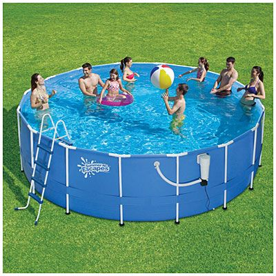 Summer Escapes 17 X 52 Metal Frame Pool With Ladder At Big Lots