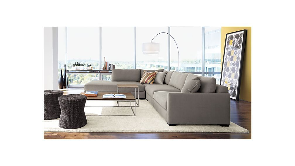 Frame Console Table Crate And Barrel Sala Ideas Sofa Floor Lamps Living Room Sofa