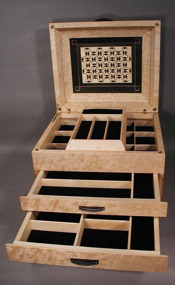 How To Make A Wooden Jewelry Box Delectable Wooden Jewelry Box Running Pelta Details  Boxes  Pinterest Inspiration Design