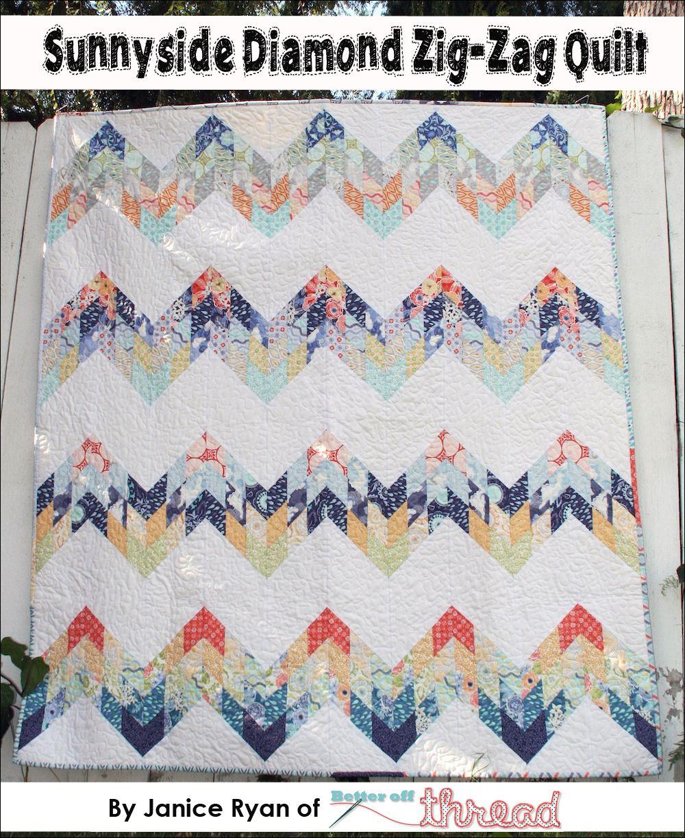 Sunnyside Diamond ZigZag Quilt Moda Bake Shop Baby sewing ideas
