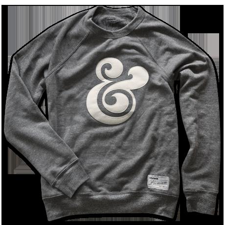 Premium Ampersand Crewneck. Super comfy triblend sweatshirt with custom sewn applique and Ugmonk tag. $62