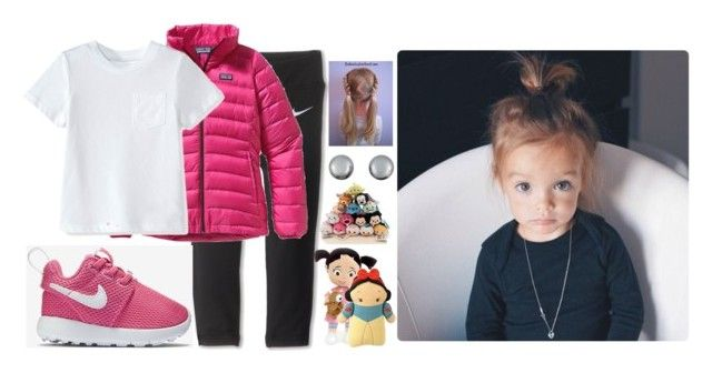 """Layla's OOTD: Soccer/ Movie"" by evieleet ❤ liked on Polyvore featuring NIKE, Patagonia, Disney and Kenneth Jay Lane"