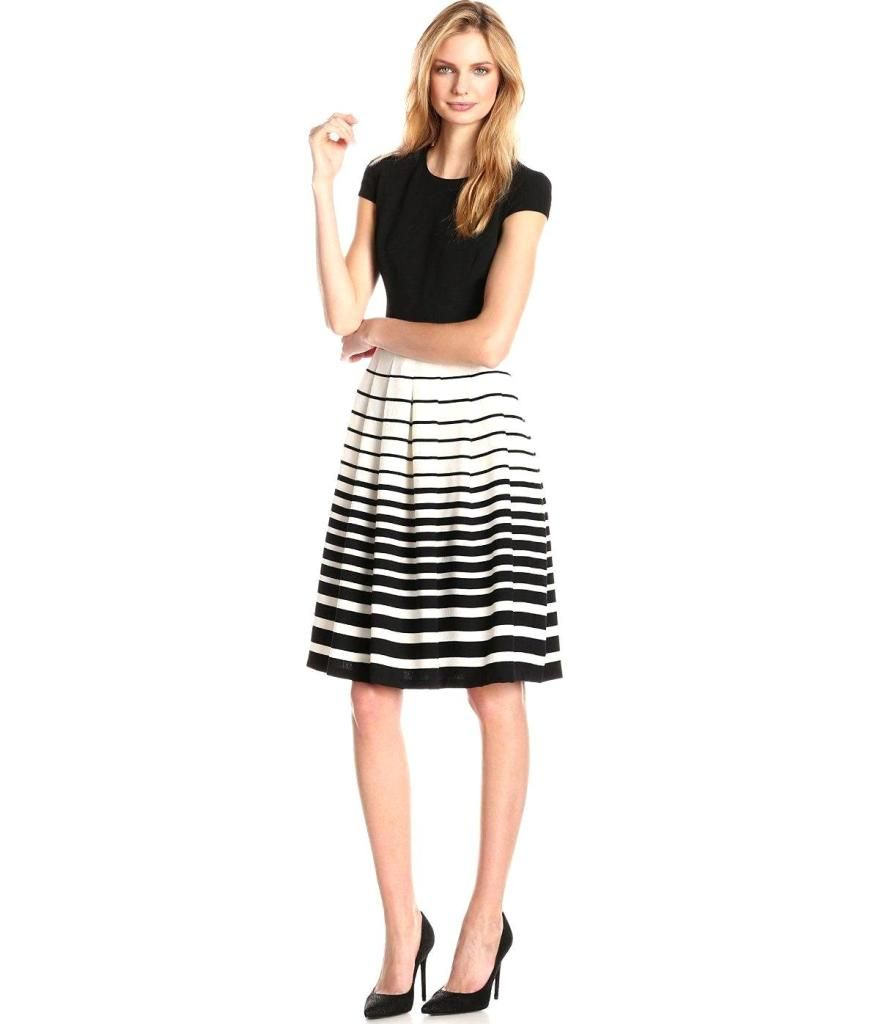Cap sleeve pleated fit and flare dress in camellia black womenus