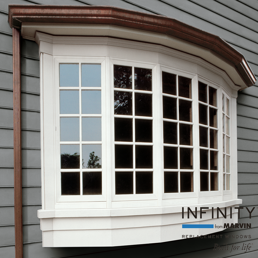 Infinity Bow Windows Extend Outward From The Exterior Wall Allowing You To Enhance The Basic Architectural Lo Windows Exterior Bow Window Bay Window Exterior