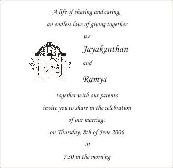 Personal Wedding Invitation Matter For Friends In Telugu Card Wordings Clickandseeworld Is All About Funnyamazing