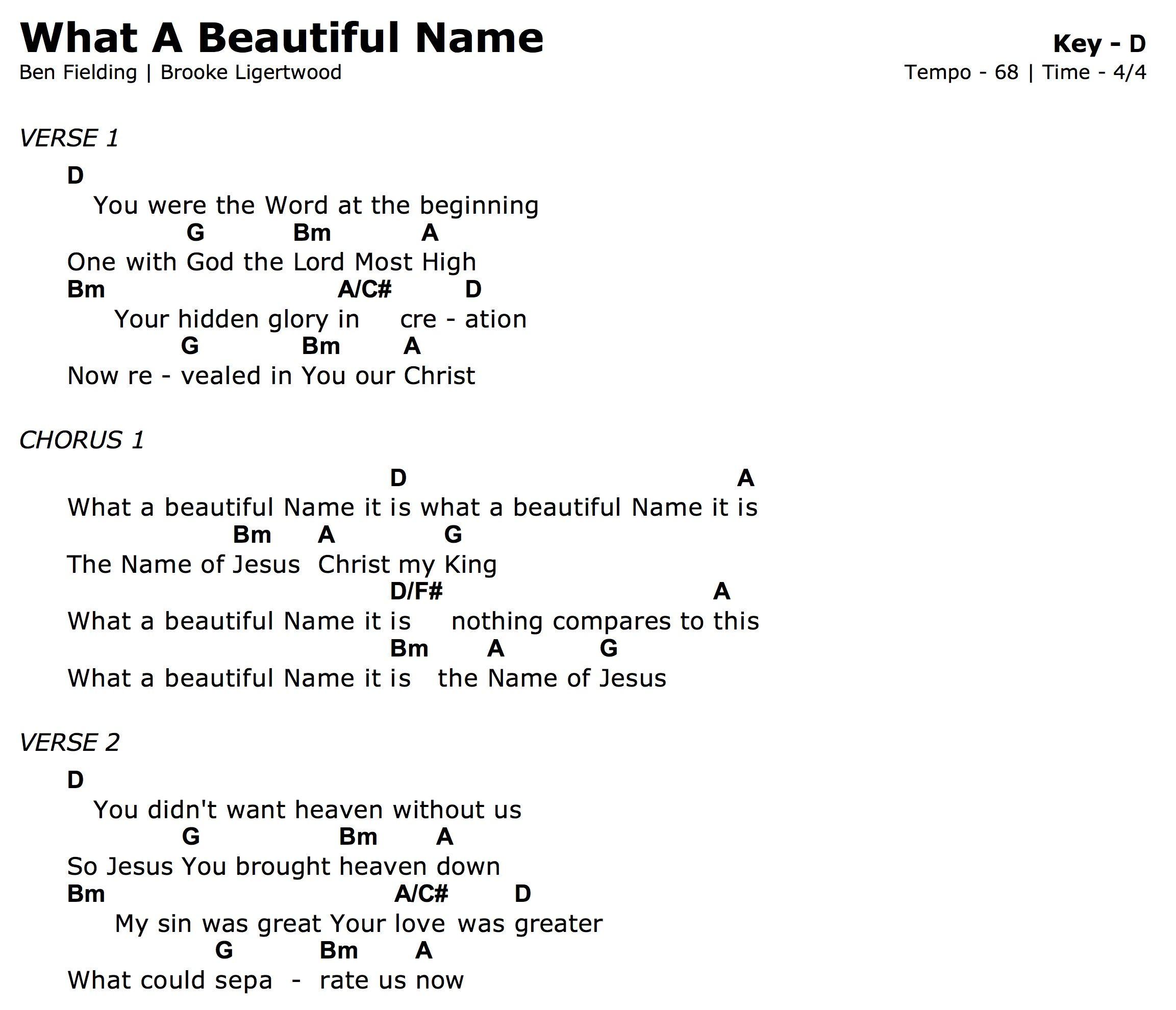 beautiful tonight chords