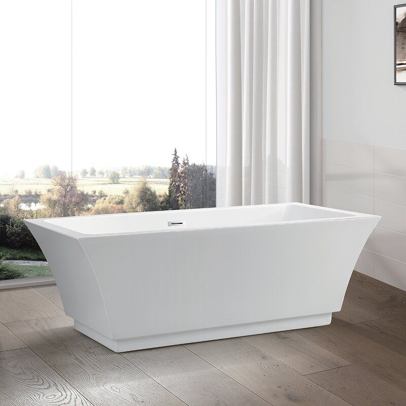 67 X 31 5 Freestanding Soaking Bathtub In 2020 Free Standing Bath Tub Soaking Bathtubs Free Standing Tub