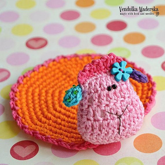 Crochet sheep coaster - pattern DIY | Ganchillo patrones, Oveja y ...