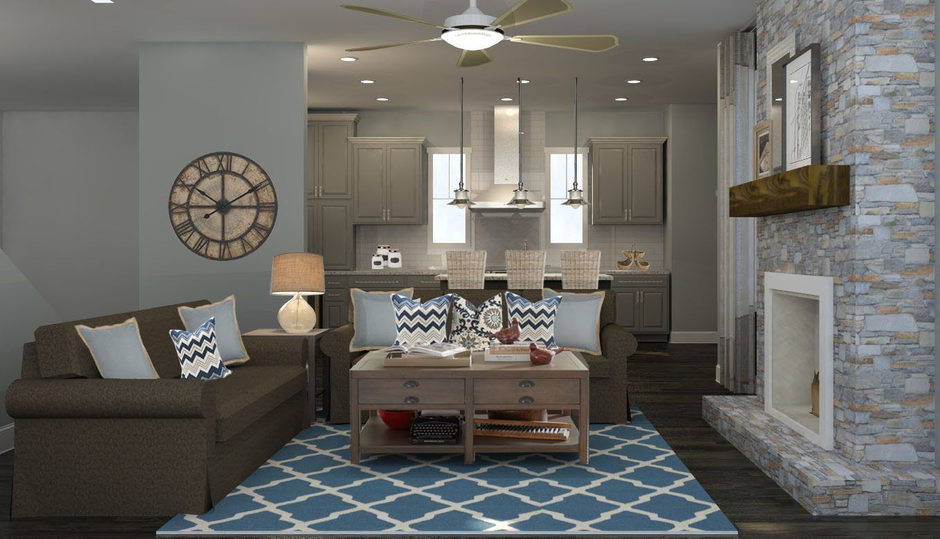 Check out this modern rustic living room