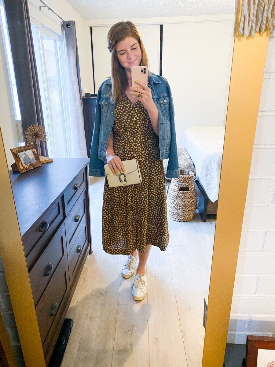Fall Floral Midi Dress Styled 3 Ways Lments Of Style Fashion Lifestyle Blog In 2021 Midi Dress Style Fashion Fashion Lifestyle Blog [ 1200 x 900 Pixel ]
