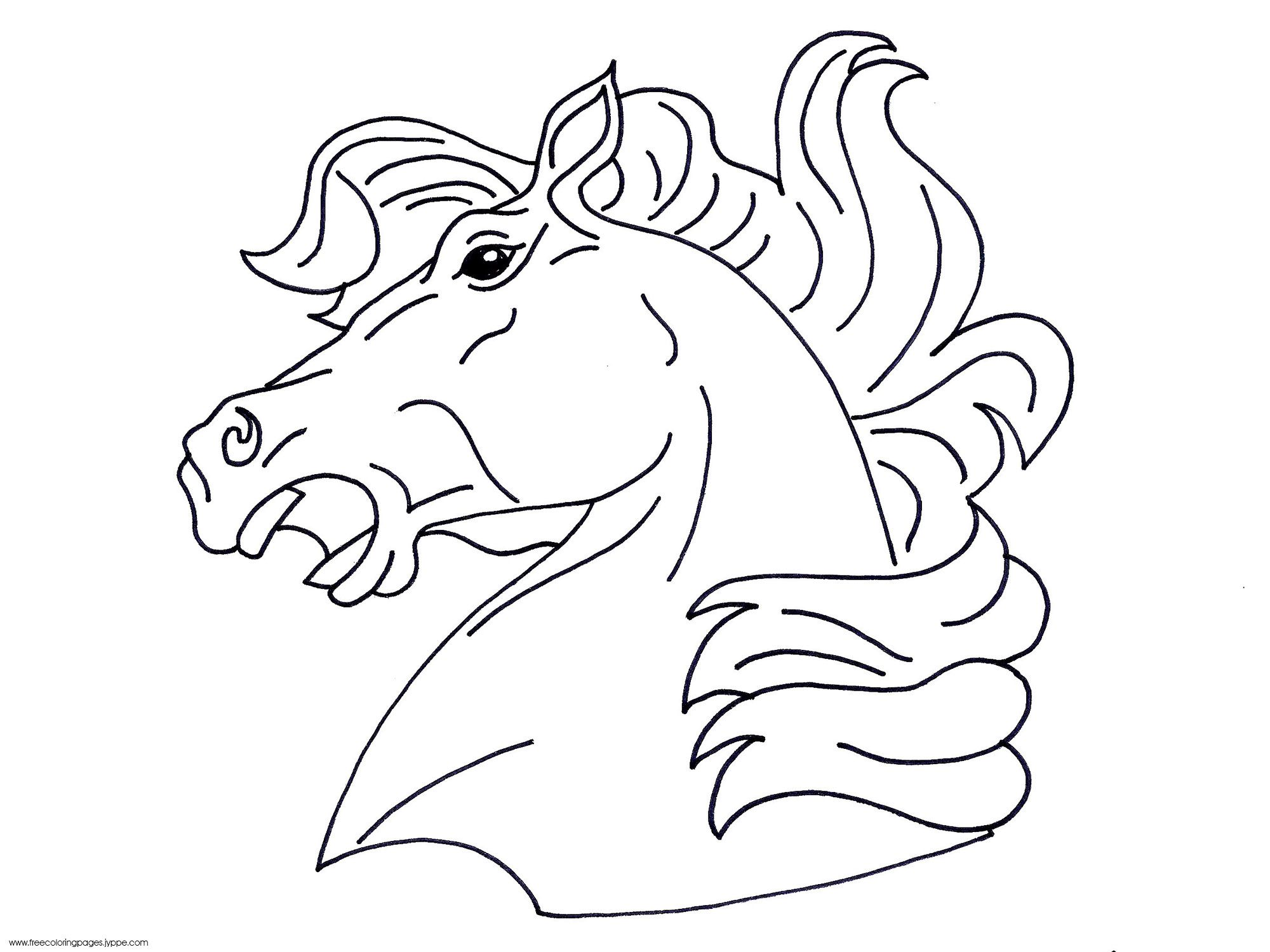 Rearing Horse Coloring Pages | Whining, Male Horse\'s Head | Cartoons ...