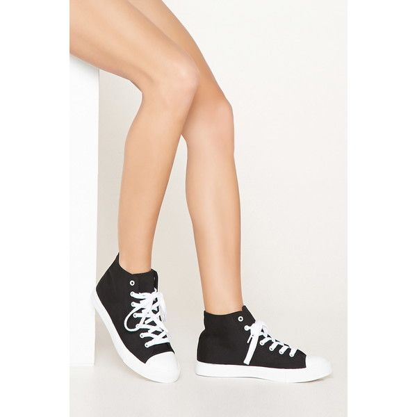 Forever 21 Women's High-Top Sneakers ($15) ❤ liked on Polyvore featuring  shoes