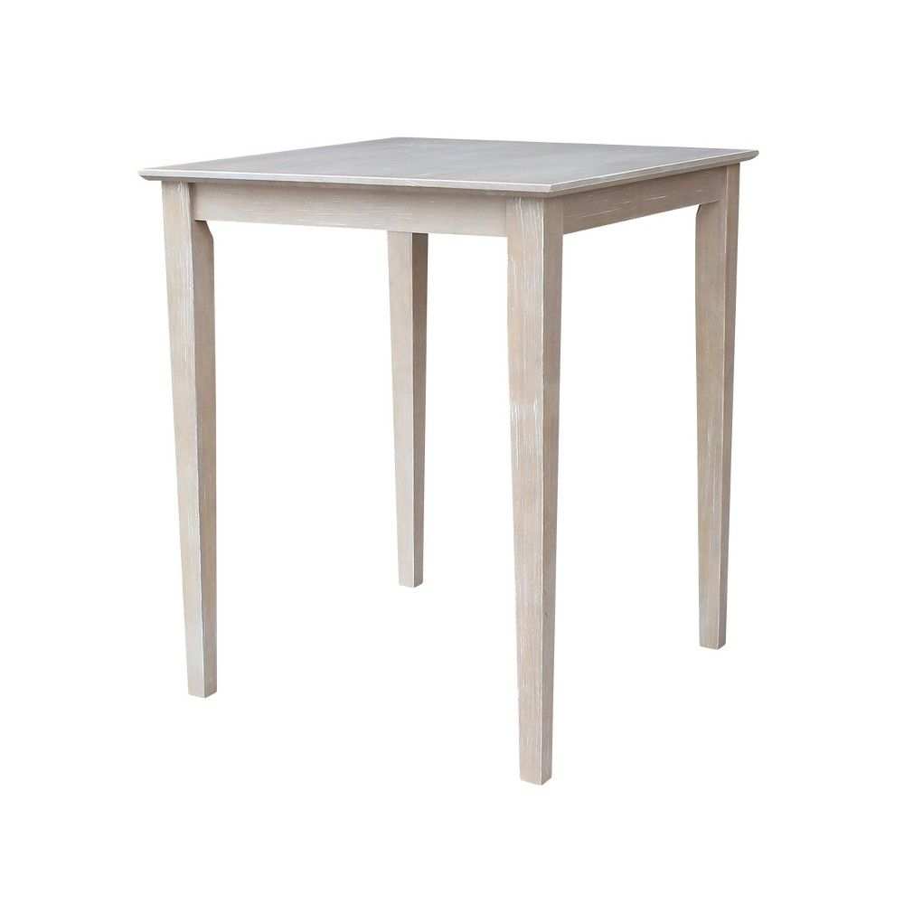 Best Solid Wood 30 X 30 Counter Height Table Washed Gray 640 x 480