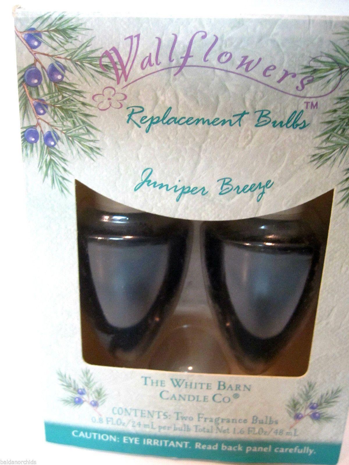 White Barn Candle Co Juniper Breeze Wallflower Refill Fragrance Bulbs