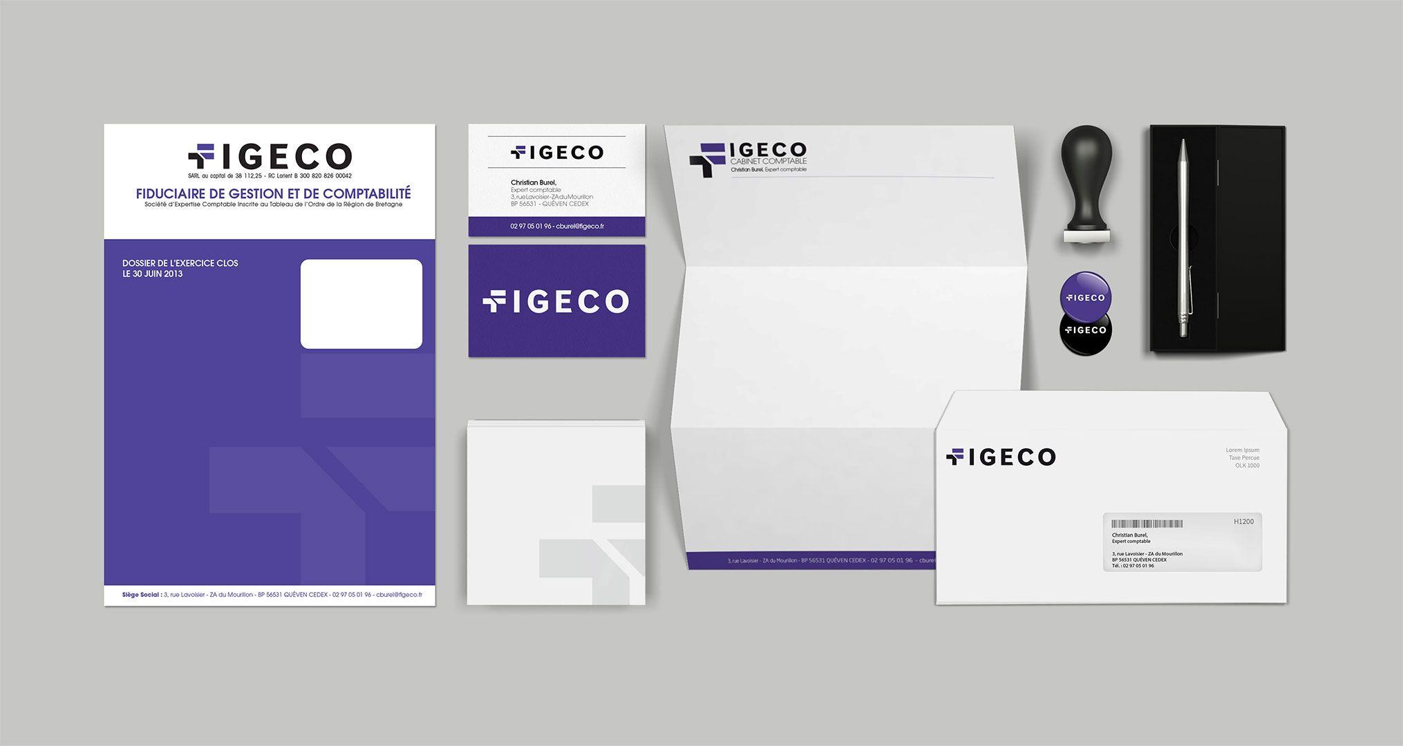 Identité visuelle du comptable Figeco
