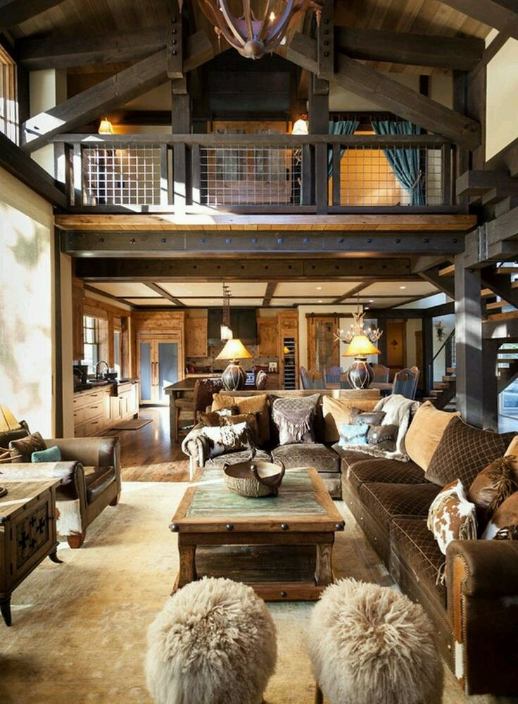 27 Rustic Living Room Design and Decor