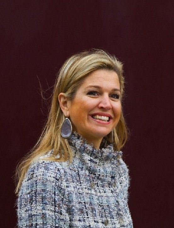 Princess Maxima of The Netherlands during the official start of the King's Games given at the primary schools De Triangel and Het Palet in Enschede. Princess Máxima will become queen consort on 30 April 2013