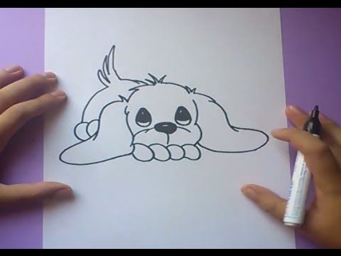 Como Dibujar Una Rosa Paso A Paso 3 How To Draw A Rose 3 Youtube Como Dibujar Un Perro Perros Para Dibujar Faciles Perritos Para Dibujar