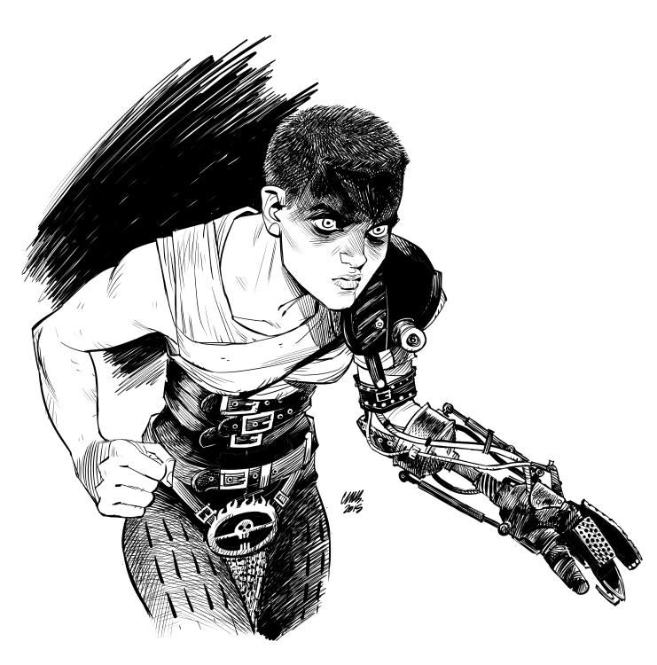 Yet another Furiosa drawing #MadMax, Cameron Stewart @cameronMstewart