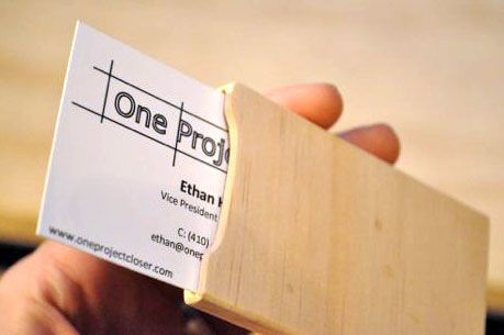 One project closer diy wood business card holder woodworking one project closer diy wood business card holder colourmoves Images