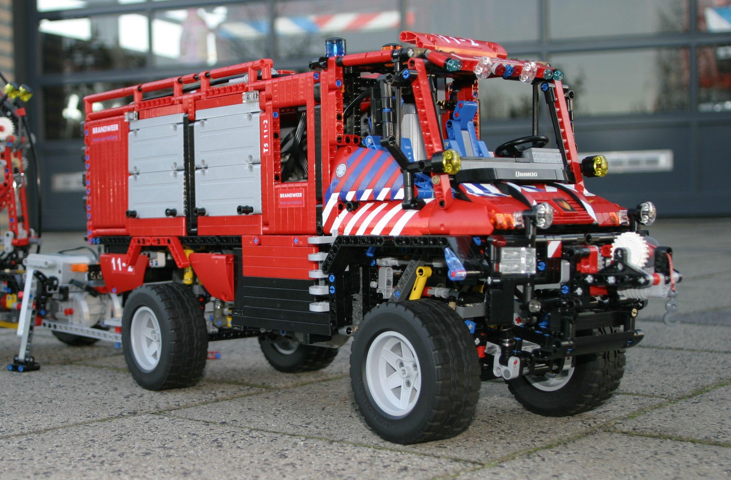 lego unimog u400 fire truck lego camion pinterest unimog u400 lego and lego technic. Black Bedroom Furniture Sets. Home Design Ideas