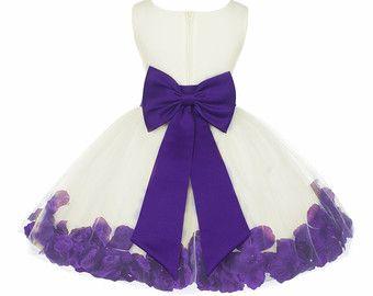 Flower girl dresses lavender color palette