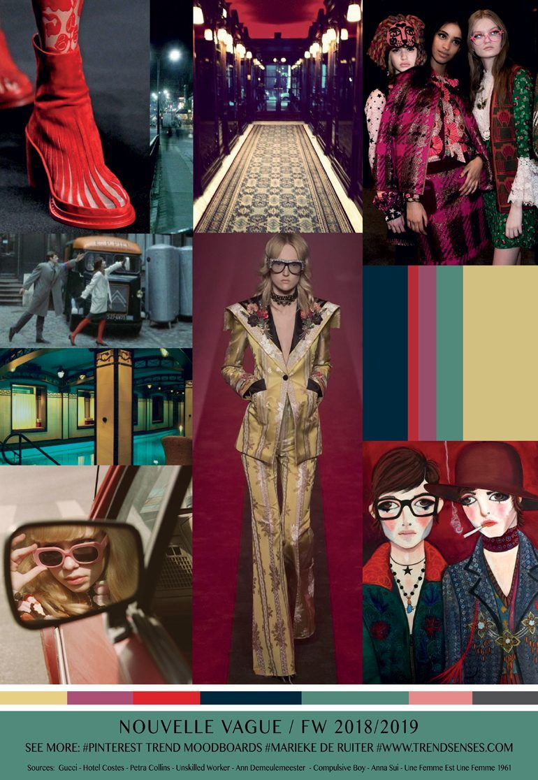 Moodboard Nouvelle Vague, Fall Winter 2018,2019