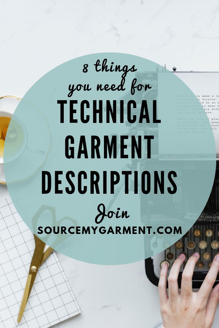 How To Write Useful Technical Garment Descriptions Product Description Technical Drawing Entrepreneur Fashion