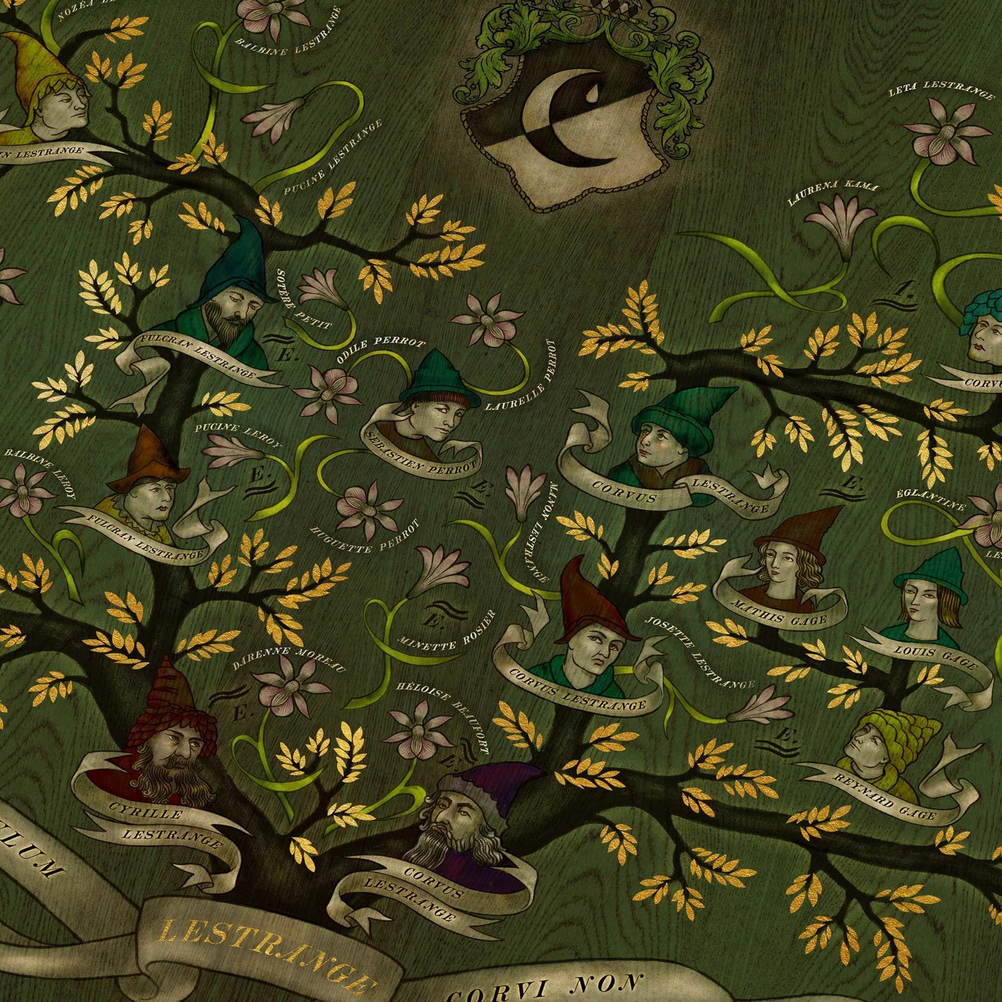 Lestrange Family Tree Print Minalima Harry Potter Family Tree Family Tree Family Tree Drawing
