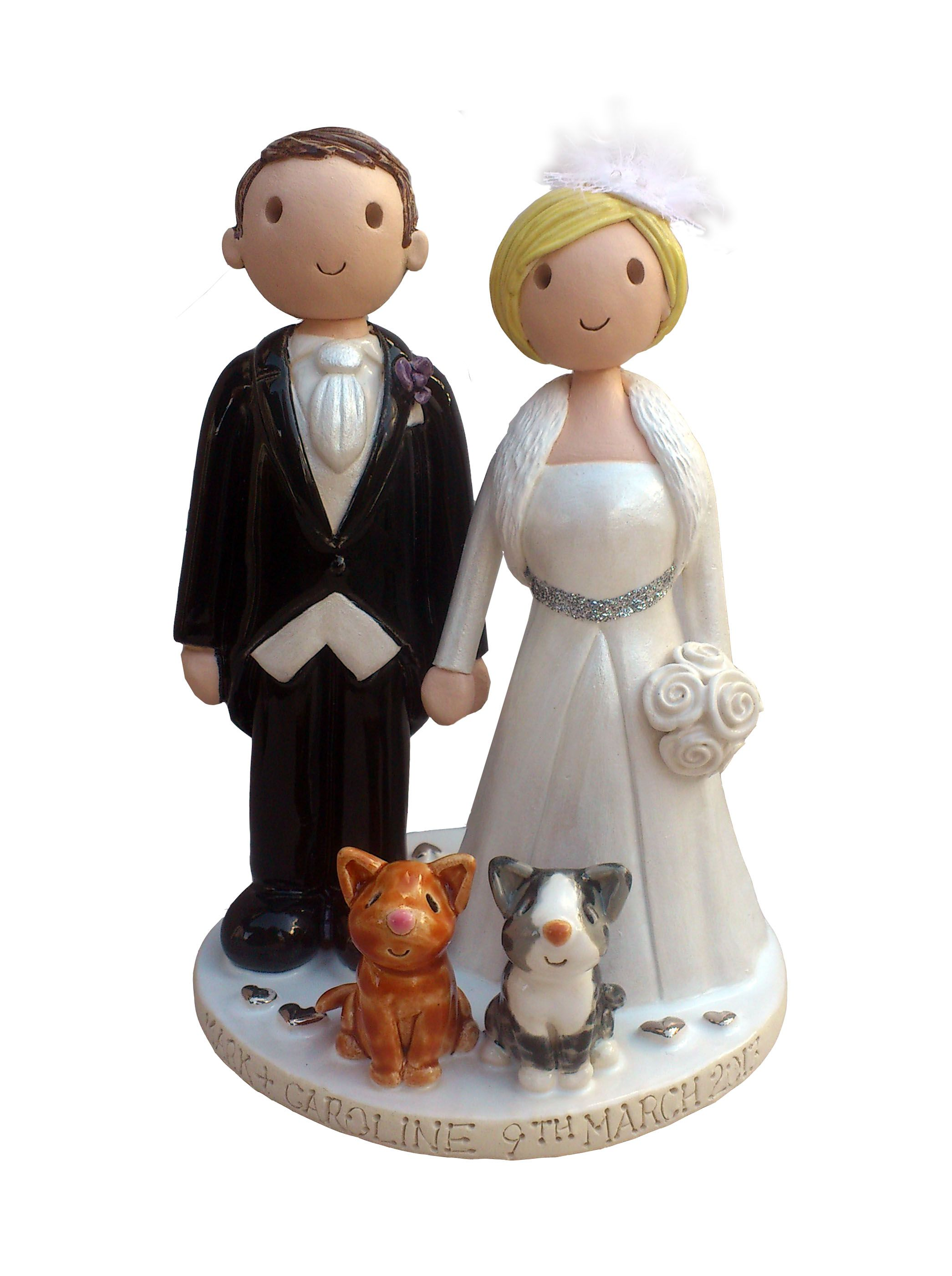images of wedding cake toppers fired ceramic wedding