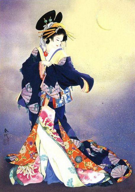 Los Kimonos De Haruyo Morita Arte Japones Produccion Artistica Arte Japones