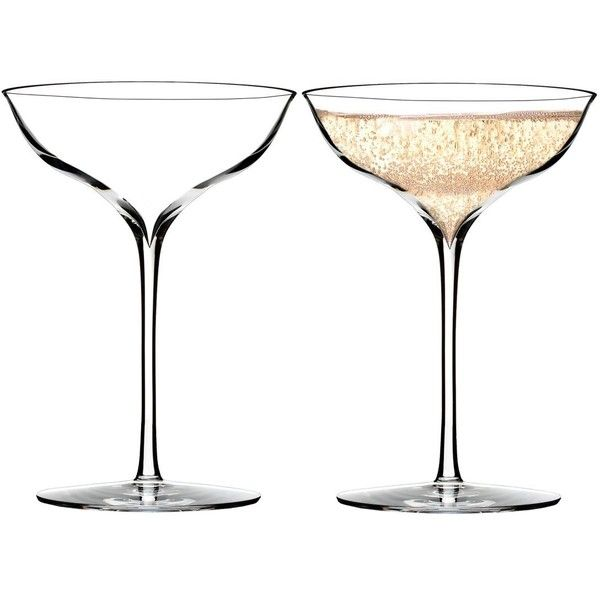 Waterford Elegance Champagne Belle Coupe Glass, Pair (420 HRK) ❤ liked on Polyvore featuring home, kitchen & dining, drinkware, champagne coupe, glass drinkware and waterford