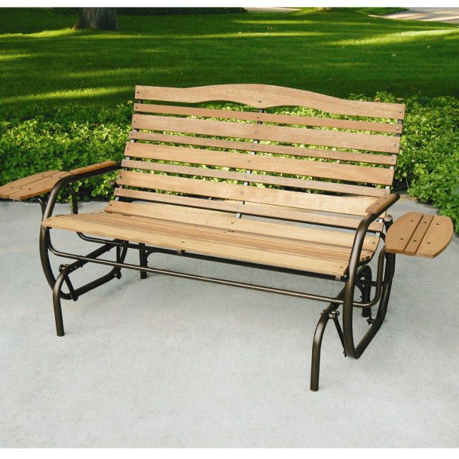 details about patio glider porch rocking swing bench 2 seat outdoor rh pinterest com