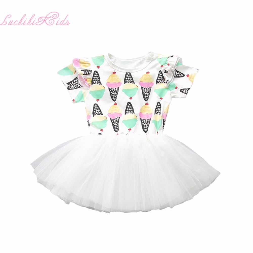 Click to buy ucuc hot sale princess baby girl summer ice cream