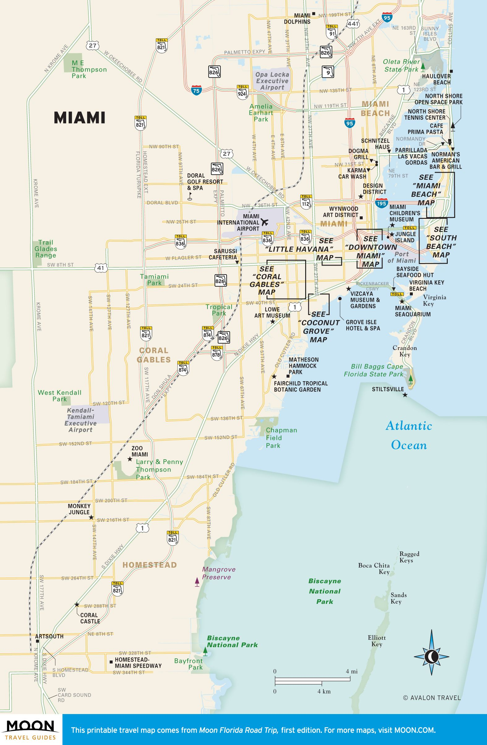 travel map of miami florida map of miami florida south florida everglades map [ 1575 x 2407 Pixel ]