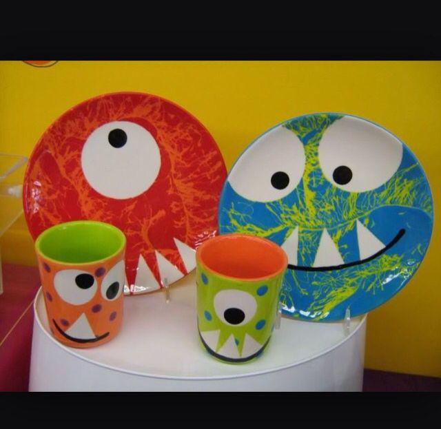 Cute Monster pottery Diy töpferei Keramik malerei