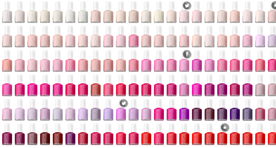 Every essie nail color in 1 chart! http://www.essie.com/Colors.aspx ...