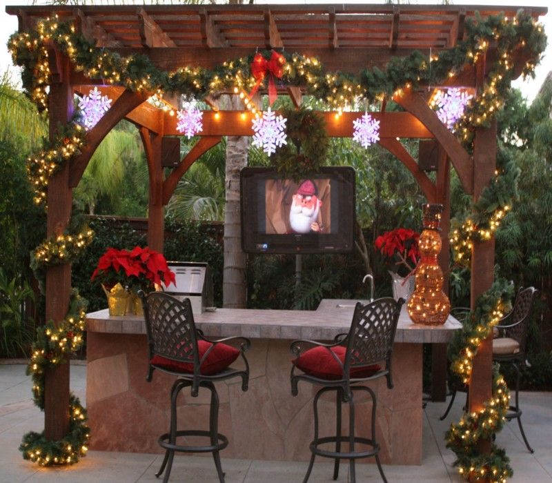 Decorate your pergola gazebo on this christmas pergolas
