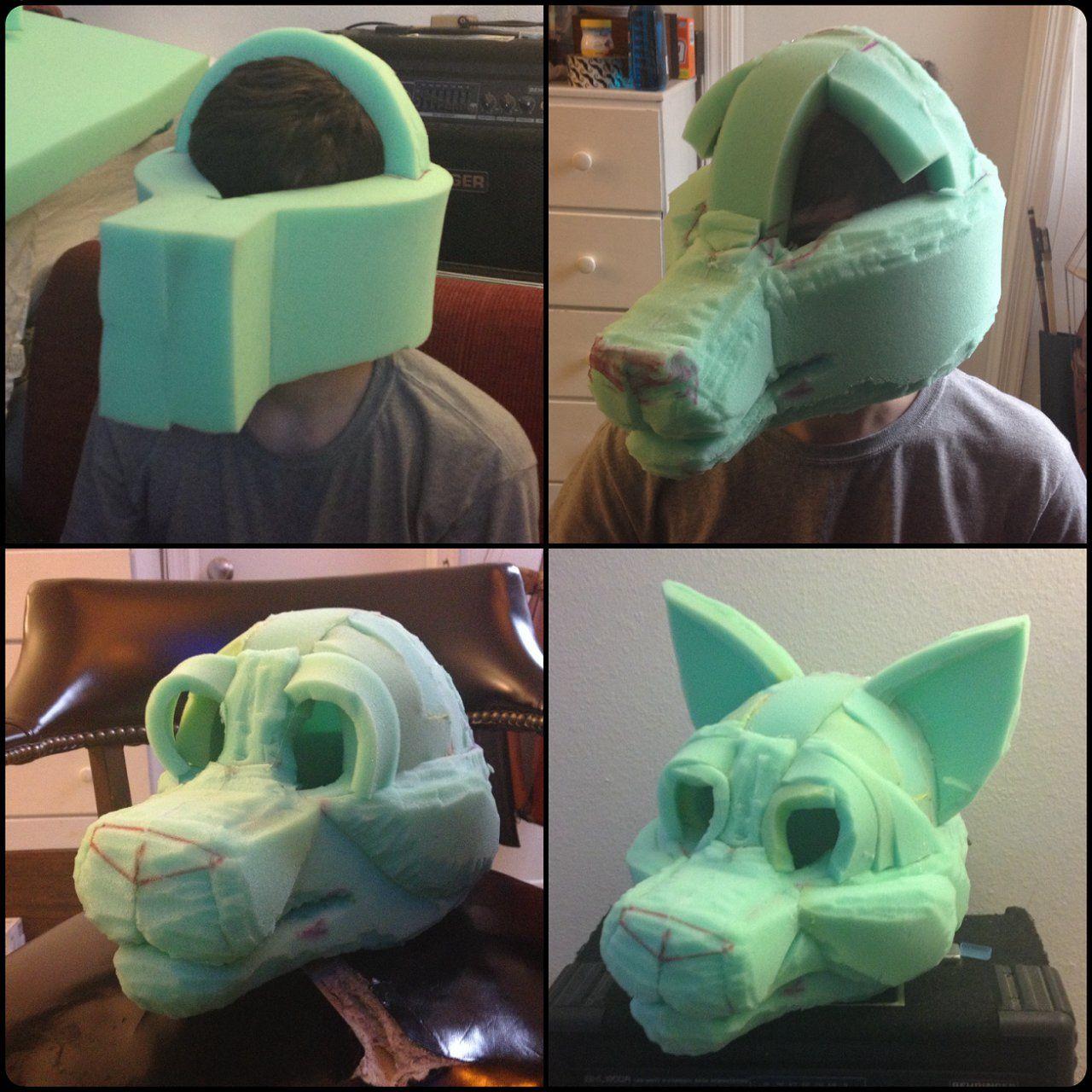 Kopf bauen/modellieren   Furry   Pinterest   Kopf, Kostüm und Fasching
