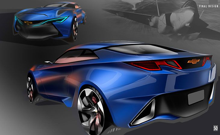 新型カマロ スケッチがかっこよすぎ マスタングに続きアメ車が欧州風に Camaro Concept Concept Car Sketch Camaro
