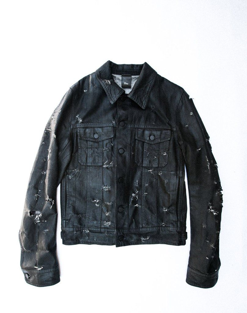 Inquire Dior Homme Waxed Coated Denim Jacket S S 2004 Strip Medium Denim Jacket Denim Coat Dior Homme [ 1024 x 808 Pixel ]